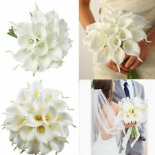12x Artificial PU Real Touch Calla Lily Fake Flowers Wedding Home Garden Decor