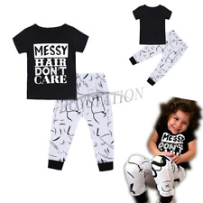 Toddler Baby Girls Outfit Kids T-shirt Top Matching Leggings Pants Clothes Set
