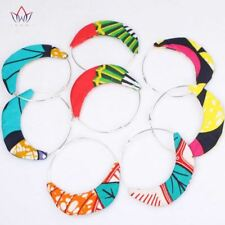 Fabric Ankara Tribal Earring African Oversized Statement Print Earrings for Wome