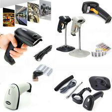 USB Laser POS Barcode Bar Code Scanner Reader Decoder+USB Cable (w/stand or Not)