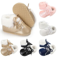 Newborn Baby Boy Girl Soft Sole Boots Infant Toddler Walking Crib Shoes Rapture