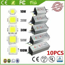 10/20/30/50/100W  LED SMD Chip Bulbs High Power Waterproof LED Driver Supply XOI