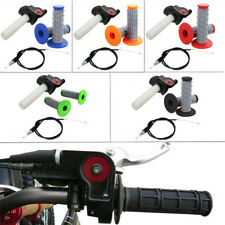 Grips Set Twist Throttle Clamp With Cable Motorcycle Pit Dirt Bike ATV Quad