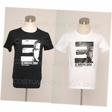 Eminem Logo Hip Hop Cotton Slim Fit Costume Short Sleeves T-shirt Tee Cosplay