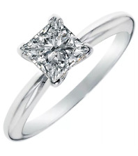 3.25 Ct Princess Cut Solitaire 14K White Gold Ring