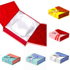 Square Bowknot Package Bracelet Bangle Jewelry Display Box Gift Present Case Hup