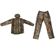 Men Women Camo Outdoor Hunting Hooded Jacket Outwear Pants Trousers Set