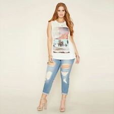 New Style Printed O-Neck Sleeveless Casual Comfortable T-Shirt for Women