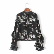 New Style Floral Printing Full Sleeve Casual Party Wear Blouse For Women
