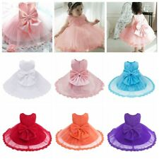 Infant Baby Girls Floral Lace Princess Tutu Dresses Wedding Pageant Party 0-24M
