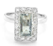 925 Sterling Silver Ring with Green Tourmaline Natural Size 5, 6, 7, 8, 9, 10