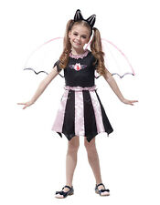 GIRLS PINK BAT COSTUME GIRL FAIRY CHEERLEADER FANCY DRESS (SIZES AVAILABLE)