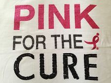 NEW KOMEN Breast Cancer Awareness Womens T-Shirt PINK FOR THE CURE Ladies M L XL