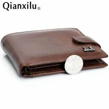 wallet men 100% genuine leather wallets men real leather purse with coin pocket