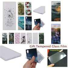 Fashion SOFT RUGGED TPU Silicone Rubber Back Case Cover For Sony Xperia Phones