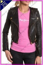 Womens Genuine Lambskin Motorcycle Real Leather Jacket Slim fit Biker Jacket #A0