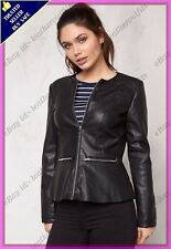 Womens Genuine Lambskin Motorcycle Real Leather Jacket Slim fit Biker Jacket #85