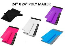 24x24 Poly Mailers Shipping Envelopes Self Sealing Plastic Mailing Bags Color