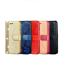 Luxury Magnetic Bling Glitter Leather Flip Case Wallet Cover For Iphone Phone