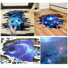 3D Blue Galaxy Wall Decals Removable Floor Stickers Bedroom Living Room Decor