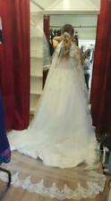 2018 White Ivory Cathedral 1 Tier Wedding Veil Lace Purfle 3m With Comb