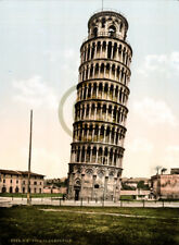 The Leaning Tower, Pisa, Italy © 1905 Reprint