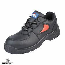 Himalayan 3413 S1P SRC Black Red Leather Steel Toe Cap Safety Shoes Work Shoe