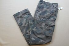 OLD NAVY KHAKI PANTS MENS BUILT OUT CARGO CAMO BROWN SIZE 34x30 ZIP FLY NWT