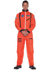 Astronaut Costume Orange Adult Space Mens Nasa Suit Jumpsuit Halloween Men NEW