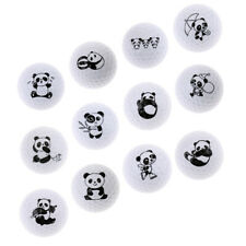 Cute Panda Patterns Golf Practice Ball Synthetic Rubber Golf Training Ball