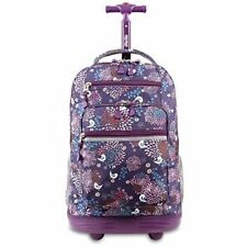 Rolling Backpack Laptop Carry On Wheeled Bookbag School College Travel Luggage
