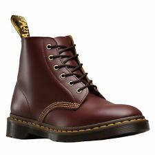 Dr.Martens 101 Arc 6 Eyelet Oxblood Womens Leather AirWair Lace-up Ankle Boots