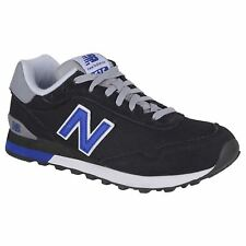New Balance 515 Classics Black Team Royal Mens Suede Mesh Laced Low-top Trainers