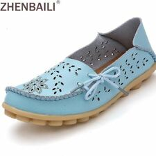 Plus Size 34-44 Women Fashion 2017 Summer Hollow Out Flats Shoes Slip-on Comfort