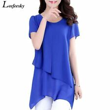 Summer Women Tops And Blouses 2017 New Short Sleeve Chiffon Blouse Shirt Casual