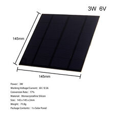 3W 6V 9V DIY Solar Panel Small Powder Cell Phone Charger External Battery Module