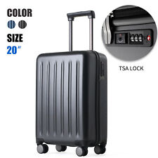 "20"" Luggage Travel Suitcase Trolley Bag TSA Lock Carry On Hard Case Lightweight"