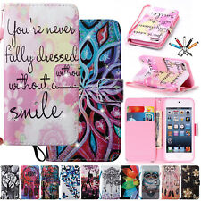 Bling Wallet Diamond Flip PU Leather Stand Case Cover For iPod Touch 5th/6th Gen