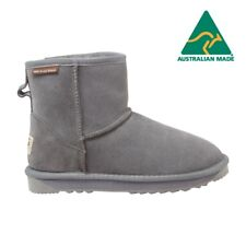 Ultra Short Classic ST Grey- Ugg Boots Sheepskin Memory Foam  Made in Australia