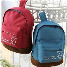 Mini Canvas Backpack Bag - Kids Purse Cute Girls Tote Handbag Small School Pouch