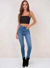 New Women's Abrand Bora Bora High Skinny Ankle Basher Jeans