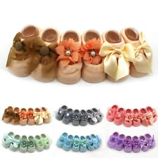 Cute Unisex Newborn Baby Soft Toddler Lace Floral Solid Color Skidproof Socks