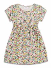 Flowery Short Sleeved Girls Dress With Pocket, ages 2-8 years. Brand new.