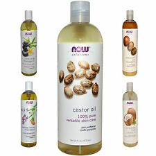 Now Foods Solutions Castor Oil Essential Oil Pure Organic Cold Pressed 16 oz