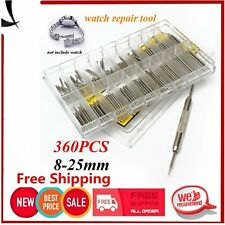 360Pcs 8-25mm Watch Band Strap Spring Bar Strap Pins Stainless Steel Tool Set EA