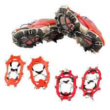 11-Teeth Climbing Boots Shoes Cover Spikes Cleats Crampons Ice Snow Grippers
