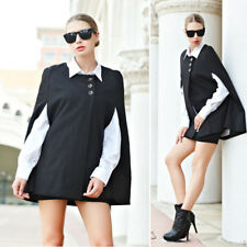 Ladies Batwing Oversize Jacket Loose Cloak Cape Outwear Black Bigjacket Coat