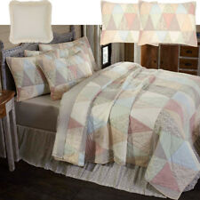 Country Pastel Floral Patchwork Quilt Pillow Sham Set 3-5Pc Twin Full Queen King