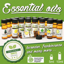 Essential Oils 100% Organic, 5ML and 10ML lavender, frankincense, many more