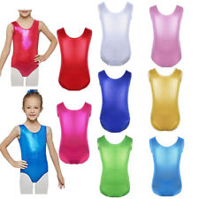 Girls Ballet Dancing Leotard Gymnastics Jumpsuit Bodysuit Kid Tank Dancewear New
